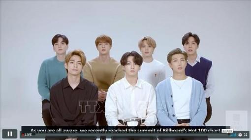 BTS hòa nhạc trực tuyến thu hút gần 1 triệu người theo dõi