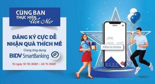 Đăng ký cực dễ - Nhận quà thích mê cùng ứng dụng BIDV Smartbanking