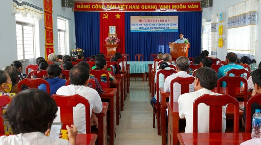 """UBMTTQVN tỉnh An Giang vận động """"Người Việt Nam ưu tiên dùng hàng Việt Nam"""""""