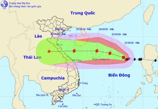 Bão số 8 tiếp tục tăng cấp tiến gần quần đảo Hoàng Sa
