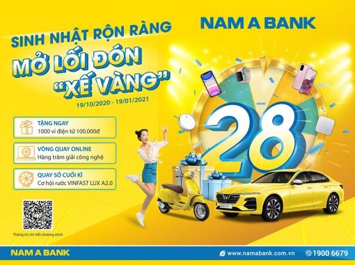 """Rước """"xế vàng"""" cùng ngàn ưu đãi mừng sinh nhật Nam Á Bank"""