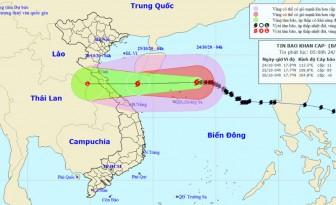 Vùng biển Quảng Trị đến Thừa Thiên Huế có gió giật cấp 9 từ tối 24-10