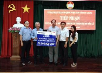 BIDV Chi nhánh An Giang ủng hộ 50 triệu đồng đến đồng bào các tỉnh miền Trung bị thiên tai