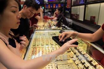 Giá vàng sáng 27-10 tăng 100.000 đồng/lượng