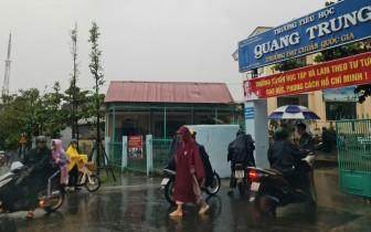 Kon Tum cho học sinh nghỉ học tránh bão