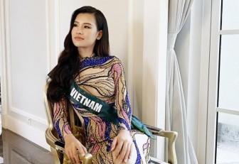 Thái Thị Hoa khoe dáng gợi cảm trong trang phục dạ hội thi 'Miss Earth 2020'