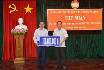 Thêm 100 triệu đồng ủng hộ đồng bào các tỉnh miền Trung bị thiên tai