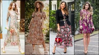 Họa tiết hoa lá - Nét đẹp tinh tế của phụ nữ đương đại