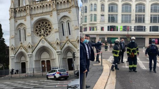 Đâm dao điên loạn bên ngoài nhà thờ Pháp, 3 người thiệt mạng