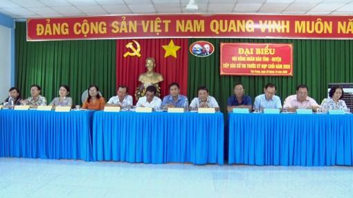 Đại biểu HĐND tỉnh An Giang và huyện Phú Tân tiếp xúc cử tri trước kỳ họp cuối năm