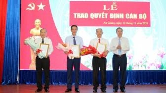 An Giang: Trao quyết định cán bộ thuộc diện Ban Thường vụ Tỉnh ủy quản lý
