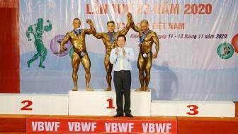 Thể hình An Giang hạng nhì Giải vô địch Thể hình quốc gia năm 2020