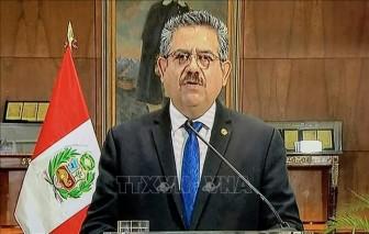 Tổng thống lâm thời Peru từ chức sau 5 ngày nắm quyền