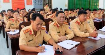 An Giang: Tập huấn công tác nghiệp vụ Cảnh sát Giao thông năm 2020