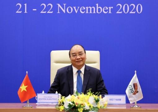 Thủ tướng Nguyễn Xuân Phúc đề nghị G20 xây dựng thỏa thuận sản xuất vaccine Covid-19 trên toàn cầu