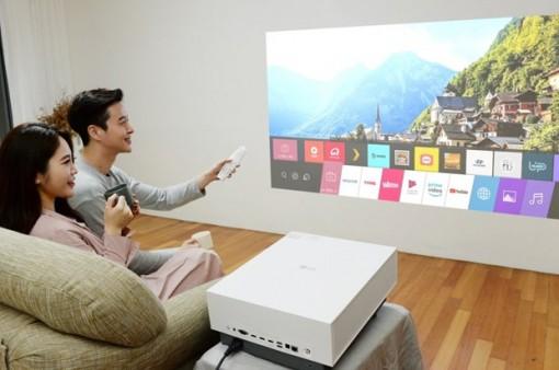 LG ra mắt mẫu máy chiếu gia đình có thể căn chỉnh màn hình