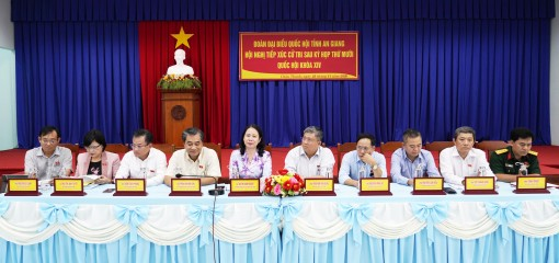 Đoàn đại biểu Quốc hội tỉnh An Giang tiếp xúc cử tri huyện Châu Thành
