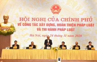 Thủ tướng chủ trì Hội nghị về công tác xây dựng, hoàn thiện pháp luật và thi hành pháp luật
