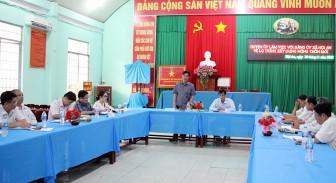 Bí thư Huyện ủy Chợ Mới Nguyễn Hồng Đức làm việc Đảng ủy xã Hội An, Tấn Mỹ về xây dựng nông thôn mới