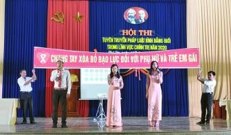 Phú Tân sôi nổi Hội thi tuyên truyền pháp luật bình đẳng giới