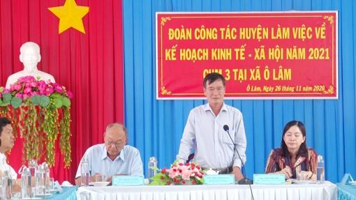 Xét duyệt kinh tế - xã hội năm 2021 các xã của huyện Tri Tôn