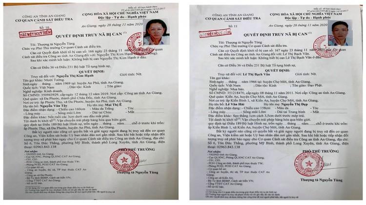 Liên quan vụ vận chuyển 51kg vàng 9999 qua biên giới An Giang: Truy nã đặc biệt nguy hiểm 5 đối tượng và đồng loạt khám xét 15 địa điểm