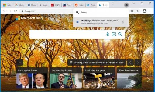 Chrome cho phép người dùng tìm kiếm tab đang mở nhanh hơn
