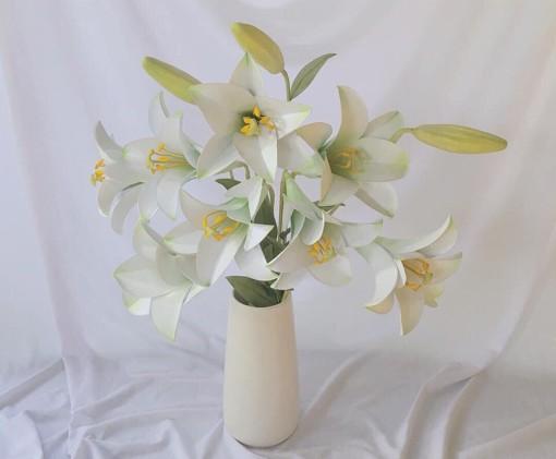 Cô gái mắc bệnh xương thủy tinh và những bông hoa Handmade