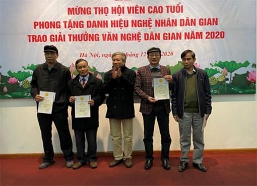 50 công trình đoạt giải thưởng văn nghệ dân gian Việt Nam