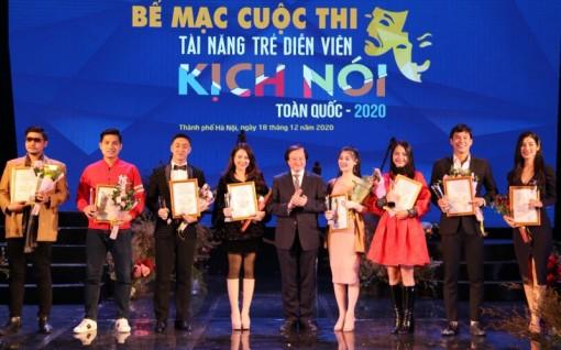 Chín HCV được trao tại Cuộc thi Tài năng trẻ diễn viên kịch nói toàn quốc