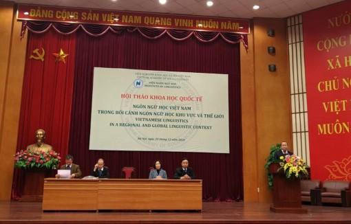 Ngôn ngữ học Việt Nam trong bối cảnh phát triển của thế giới