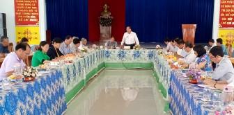 Chủ tịch UBND tỉnh An Giang Nguyễn Thanh Bình làm việc tại huyện Châu Phú