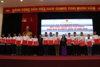 Tuyên dương học sinh đoạt giải Olympic quốc tế năm 2020