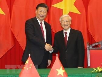 Điện mừng 71 năm Ngày thiết lập quan hệ ngoại giao Việt Nam-Trung Quốc