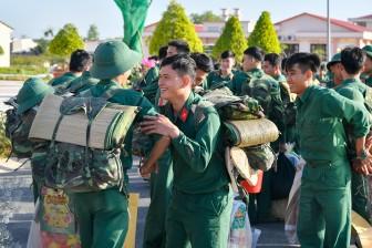 An Giang: Tiễn quân nhân hoàn thành nghĩa vụ quân sự trở về địa phương
