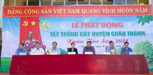 Châu Thành phát động Tết trồng cây xuân Tân Sửu 2021