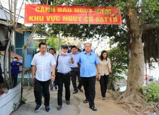 An Giang: Đề nghị ban bố tình huống khẩn cấp khu vực sạt lở rạch Cái Sắn đang phát sinh