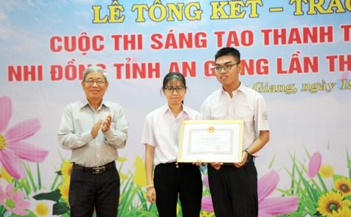 An Giang trao 31 giải Sáng tạo thanh thiếu niên, nhi đồng tỉnh năm 2020