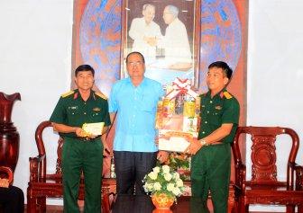 Chủ tịch UBND tỉnh An Giang Nguyễn Thanh Bình chúc Tết các đơn vị lực lượng vũ trang trên địa bàn tỉnh