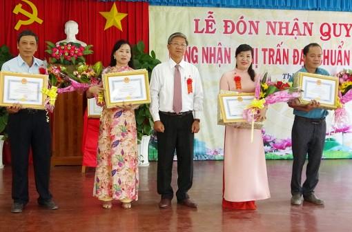 Thị trấn Tri Tôn được công nhận đạt chuẩn văn minh đô thị