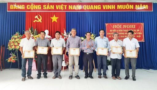 """Sơ kết 5 năm thực hiện Dự án """"chuyển đổi nông nghiệp bền vững"""" trên địa bàn xã Tân Lập"""
