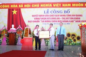 Xã Long An được công nhận xã nông thôn mới nâng cao