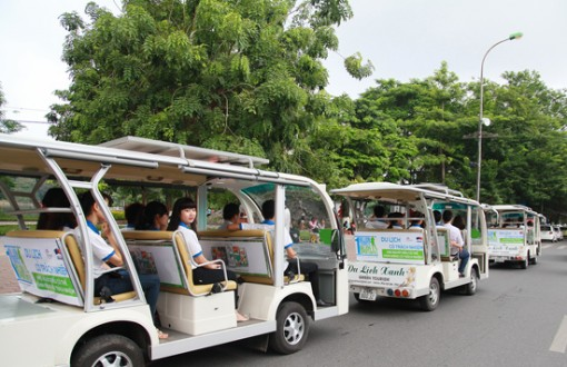Kiến nghị kéo dài thời gian sử dụng xe điện 4 bánh chở khách du lịch ở TP.Châu Đốc