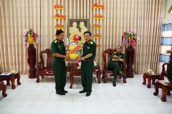 Bộ Tư lệnh Quân khu 9 thăm, chúc Tết cán bộ, chiến sĩ khu cách ly tập trung ở An Giang