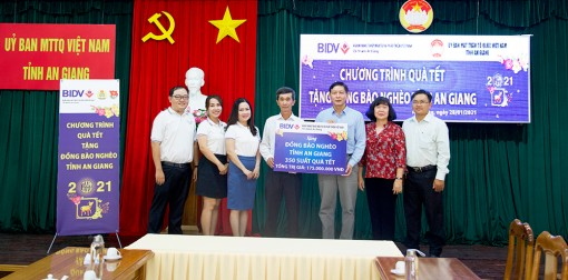 BIDV chi nhánh An Giang hỗ trợ 350 phần quà Tết cho người nghèo
