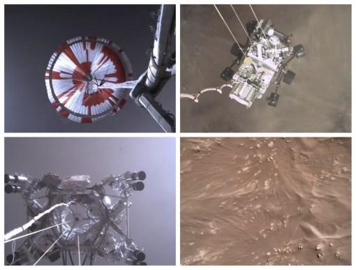 NASA công bố đoạn video quay tàu vũ trụ hạ cánh trên sao Hỏa