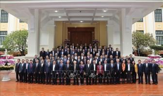 Gặp mặt thân mặt các đồng chí nguyên lãnh đạo Đảng, Nhà nước không tái cử khóa XIII