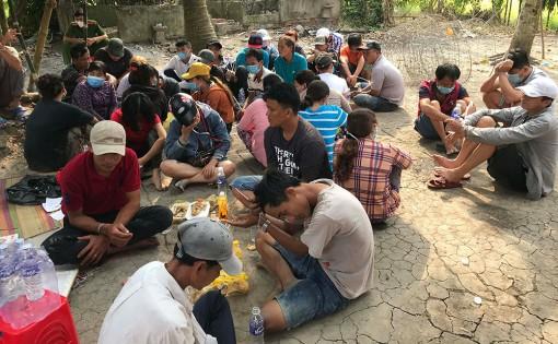 An Giang: Triệt xóa bắt 35 đối tượng tại tụ điểm lắc tài xỉu ở Thoại Sơn