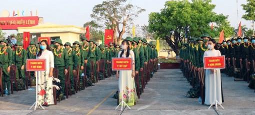 Hơn 1.500 thanh niên An Giang lên đường nhập ngũ