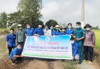 Đoàn viên, thanh niên Châu Phú tham gia hoạt động Tết trồng cây